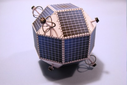 Paper model of mimosa satellite