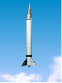 Paper model of viking 10 rocket